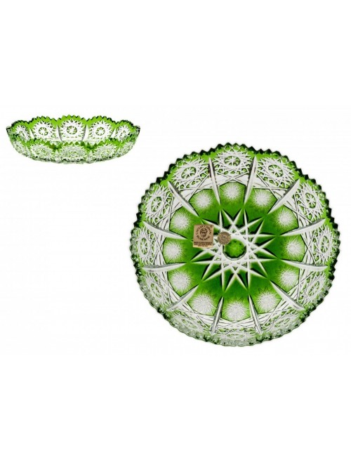 Crystal Plate Paula, color green, diameter 146 mm