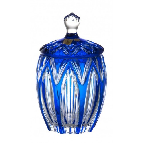 Crystal Box Lotus, color blue, height 200 mm