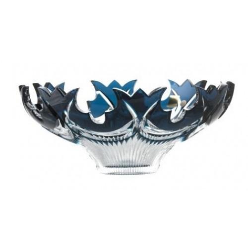 Crystal Bowl Diadem, color azure, diameter 275 mm