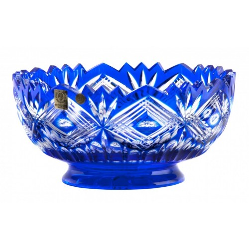 Crystal Bowl Mary, color blue, diameter 205 mm