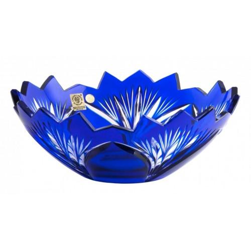 Crystal Bowl Jonathan, color blue, diameter 230 mm