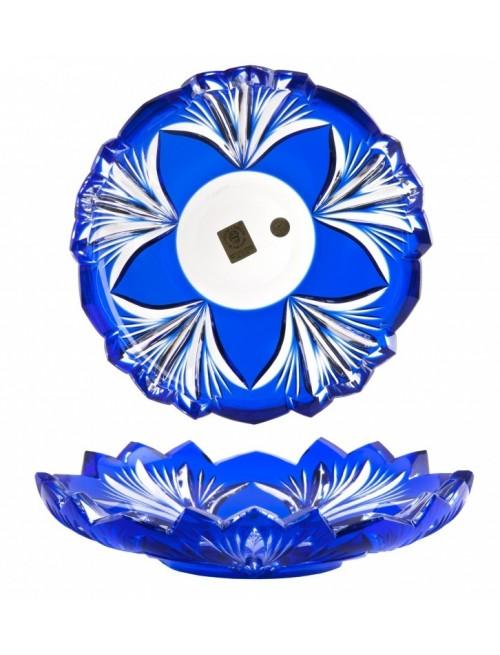 Crystal Plate Jonathan, color blue, diameter 180 mm