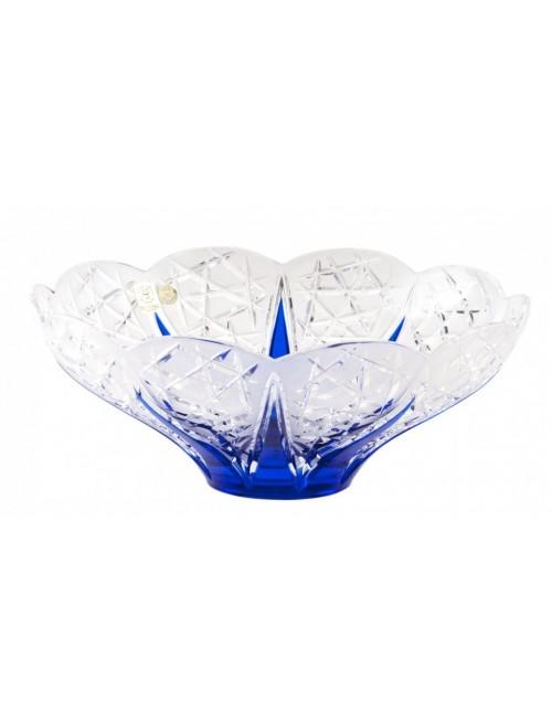 Crystal Bowl FlowerBud, color blue, diameter 275 mm