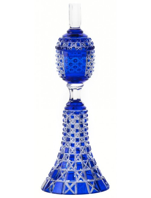 Crystal cup Lada, color blue, height 370 mm