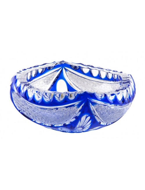 Crystal Ashtray  Ingrid, color blue, diameter 155 mm