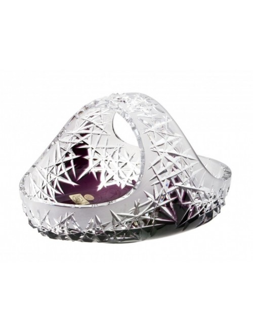 Crystal Basket Hoarfrost, color violet, diameter 230 mm