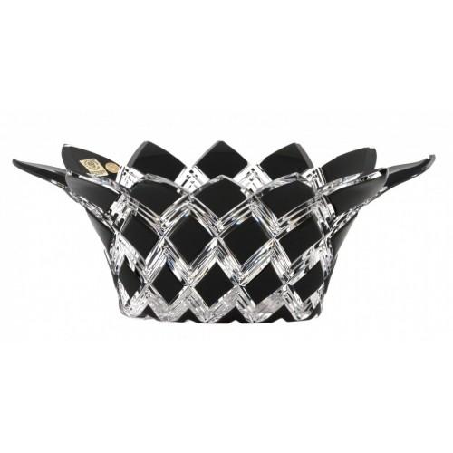 Crystal Bowl Harlequin, color black, diameter 300 mm