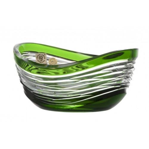 Crystal Bowl Poem, color green, diameter 120 mm