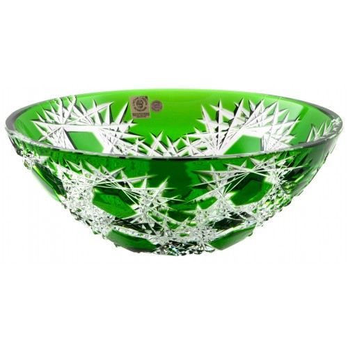 Crystal Bowl Frost, color green, diameter 230 mm