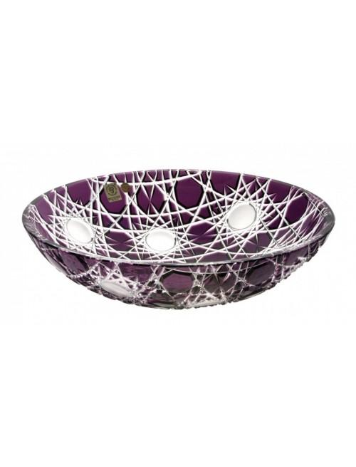 Crystal Bowl Flake I, color violet, diameter 280 mm