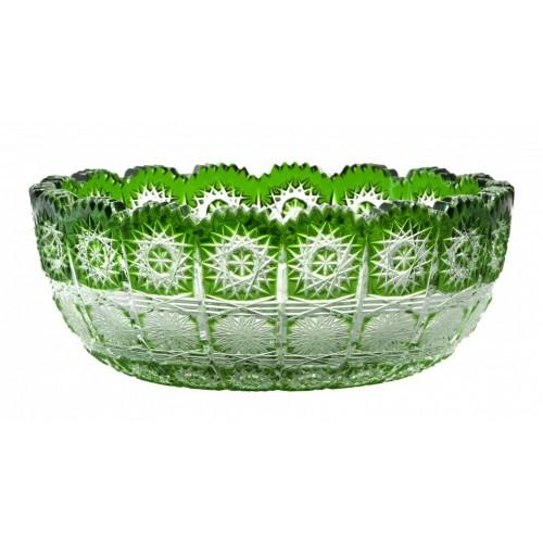 Crystal Bowl Paula I, color green, diameter 205 mm