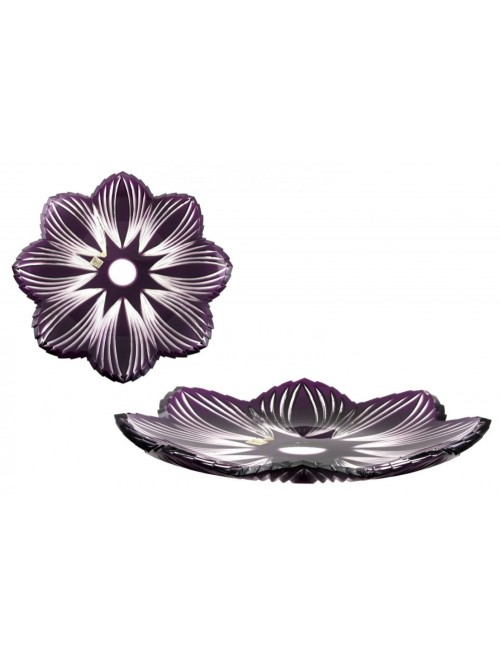 Crystal Plate Edita, color violet, diameter 360 mm