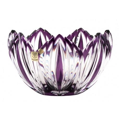 Crystal Bowl Edita, color violet, diameter 200 mm