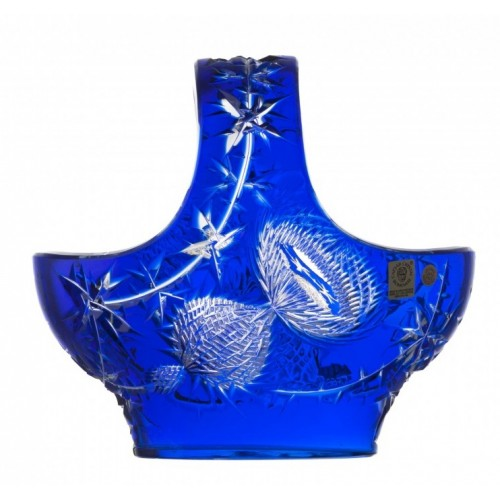 Crystal Basket Thistle, color blue, diameter 200 mm
