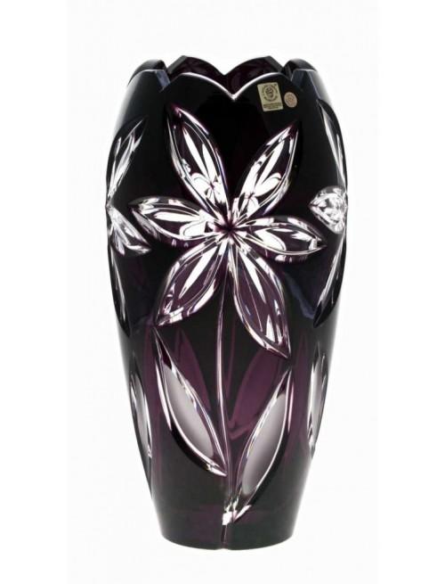 Crystal Vase Linda I, color violet, height 230 mm