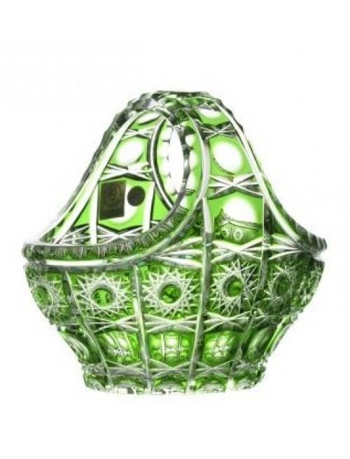 Crystal Basket Petra, color green, diameter 150 mm