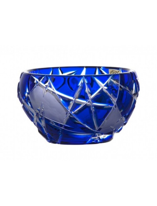 Crystal Bowl Mars, color blue, diameter 110 mm