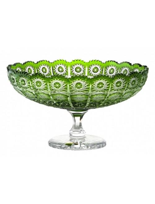 Crystal Footed Bowl Paula, color green, diameter 305 mm
