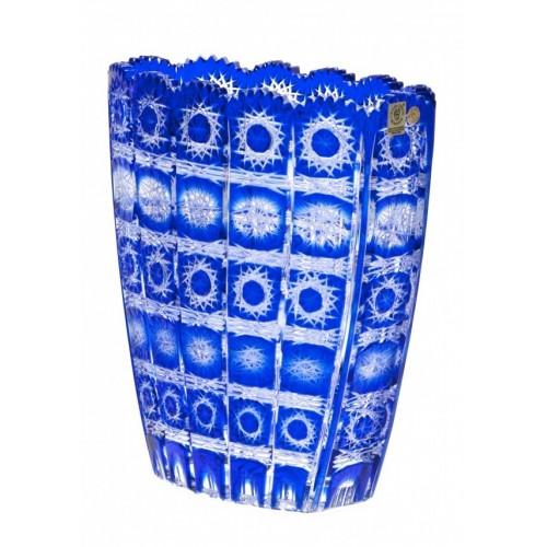 Crystal Vase Paula, color blue, height 230 mm