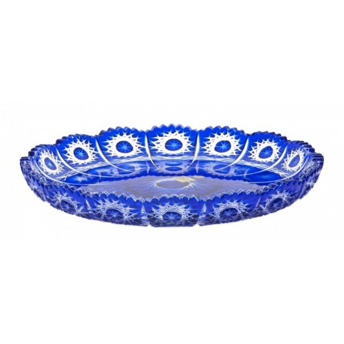 Crystal Plate Paula, color blue, diameter 255 mm