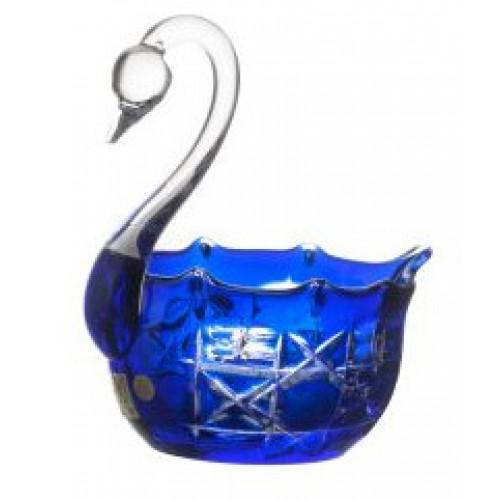 Crystal swan Octagon, color blue, diameter 116 mm