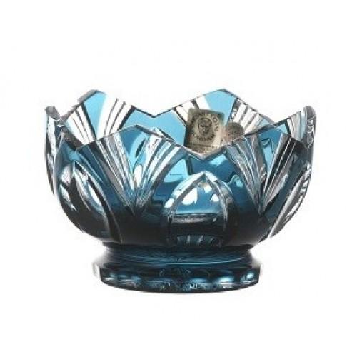 Crystal Bowl Lotus, color azure, diameter 104 mm