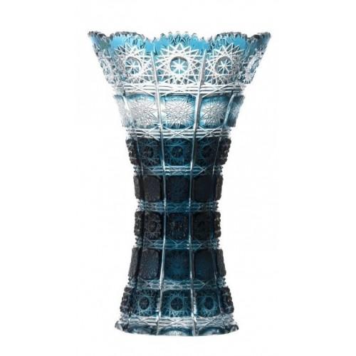 Crystal Vase Paula, color azure, height 255 mm