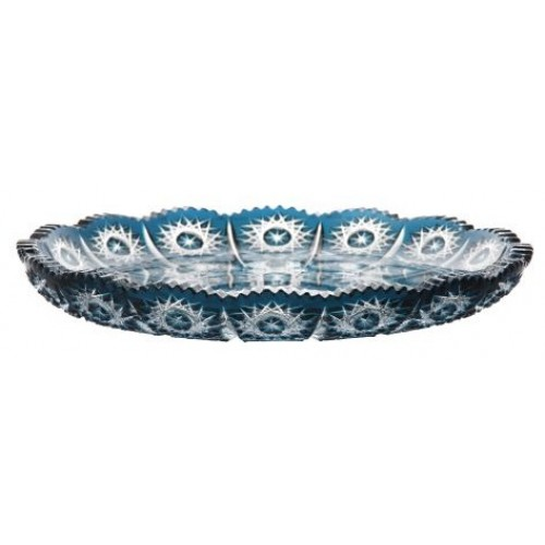 Crystal Plate Paula, color azure, diameter 255 mm