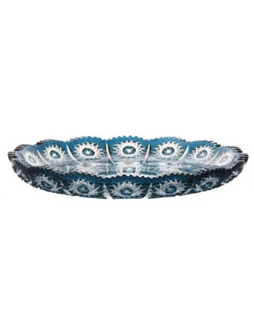 Crystal Plate Paula, color azure, diameter 255 mm