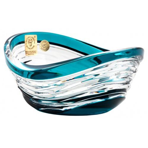 Crystal bowl Poem, color azure, diameter 120 mm