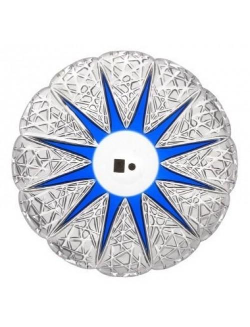 Crystal Plate FlowerBud, color blue, diameter 300 mm