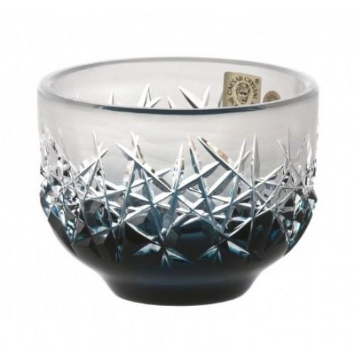 Crystal Bowl Hoarfrost, color azure, diameter 95 mm