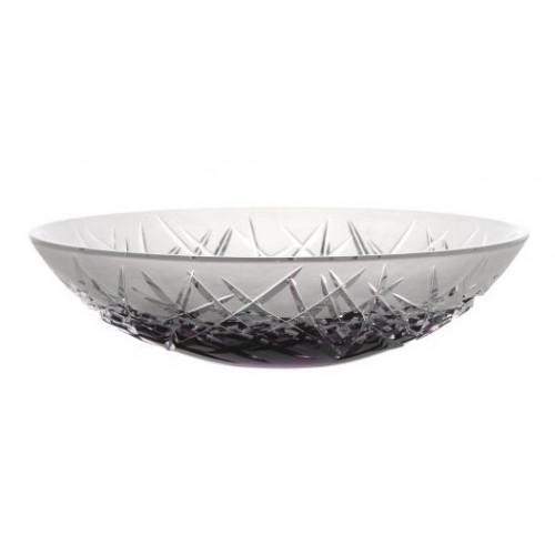 Crystal Bowl Hoarfrost I, color violet, diameter 280 mm