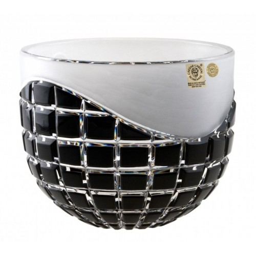 Crystal Bowl Neron, color black, diameter 200 mm