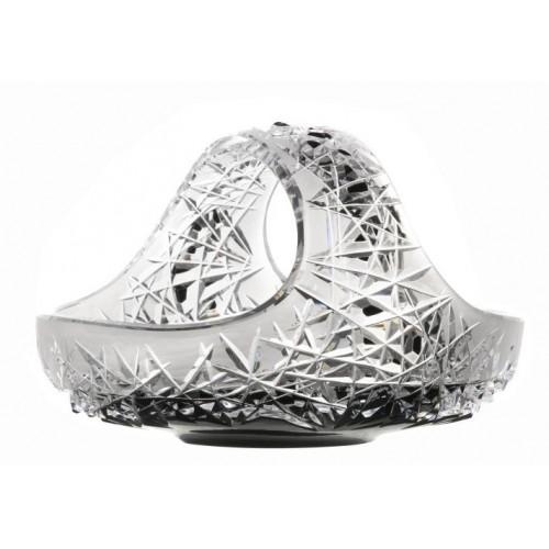 Crystal basket Hoarfrost, color black, diameter 230 mm