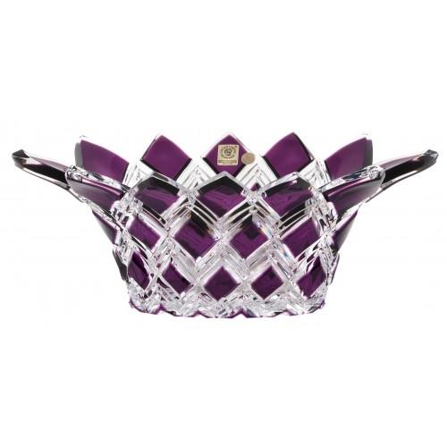 Crystal bowl Harlequin, color violet, diameter 300 mm