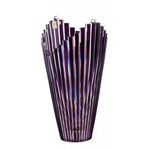 Crystal Vase Mikado, color violet, height 310 mm