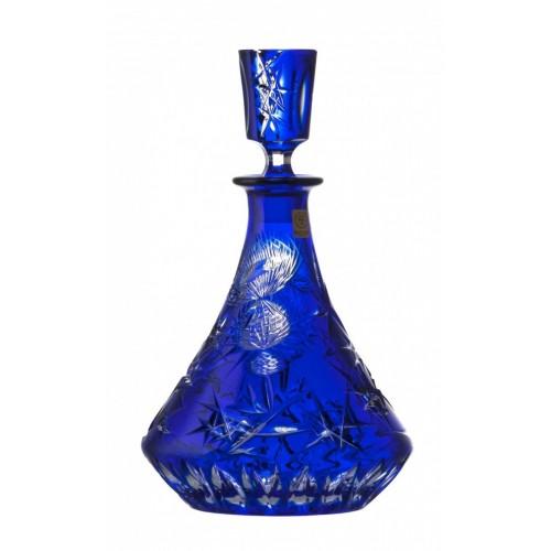 Crystal Bottle Thistle, color blue, volume 800 ml