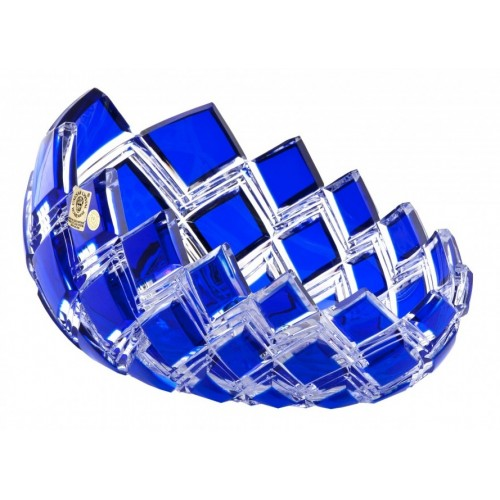 Crystal Bowl Harlequin, color blue, diameter 255 mm