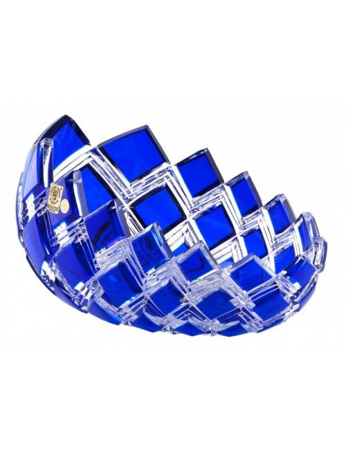 Crystal Bowl Harlequin, color blue, diameter 255 mm