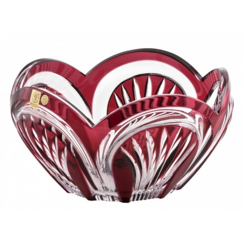 Crystal Bowl Fountain, color ruby, diameter 230 mm