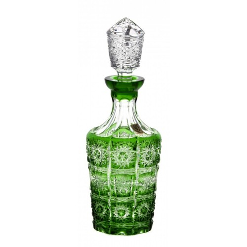 Crystal Bottle Paula, color green, volume 600 ml