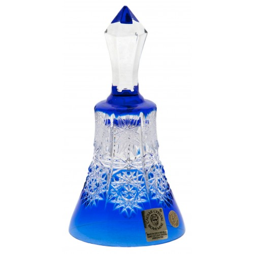 Crystal Bell Paula, color blue, height 126 mm