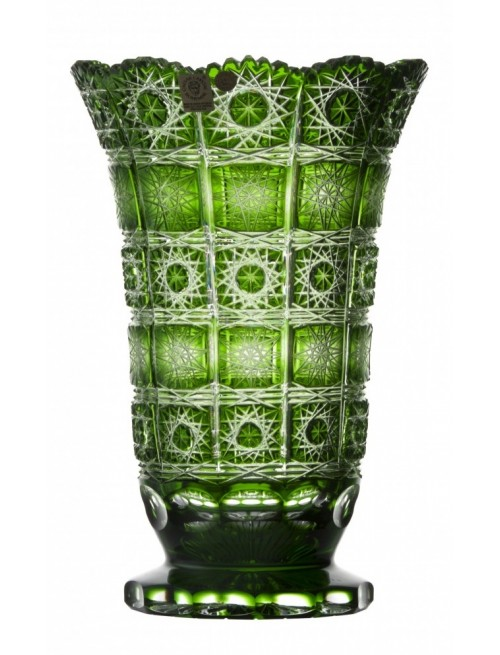 Crystal Vase Paula, color green, height 255 mm