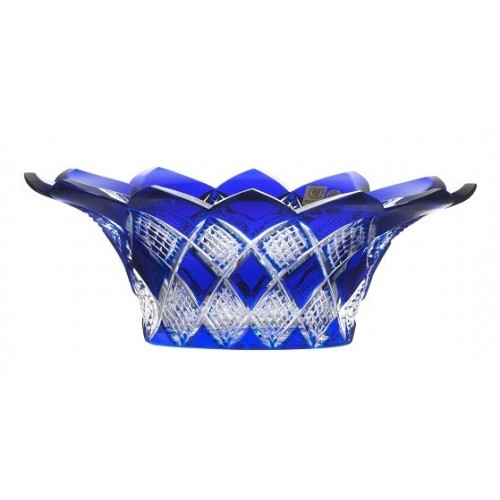 Crystal Bowl Colombine, color blue, diameter 300 mm