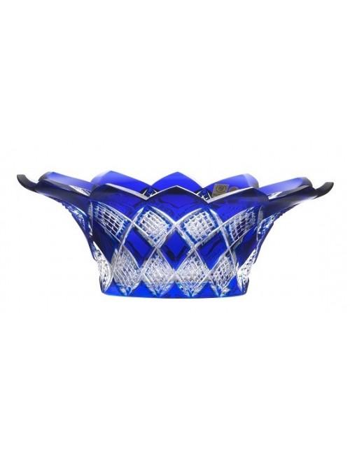 Crystal Bowl Colombine, color blue, diameter 300 mm