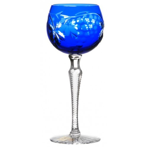 Crystal wine glass Grapes, color blue, volume 170 ml