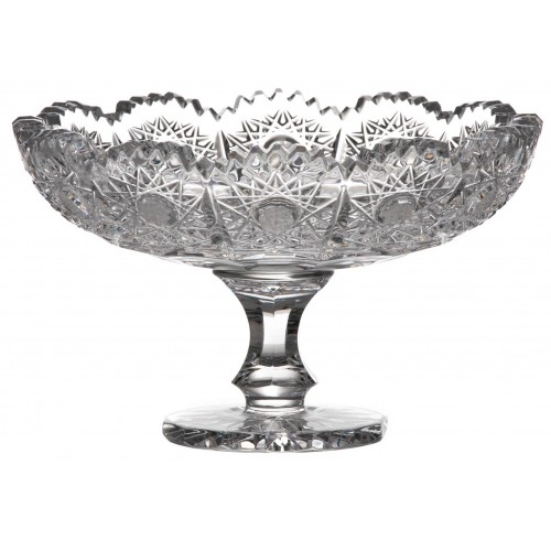 Crystal footed bowl 500PK, color clear crystal, diameter 120 mm