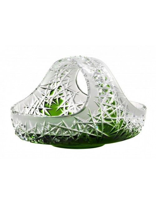 Crystal Basket Hoarfrost, color green, diameter 230 mm