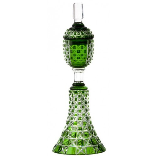 Crystal cup Lada, color green, height 370 mm